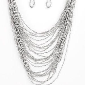 Silver seed bead paparazzi